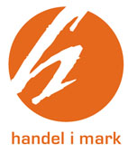 Handel i mark logotype